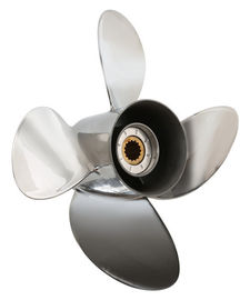 Cina 115hp Parsun Outboard Propeller, Stainless Steel 4 Blade Propeller pabrik